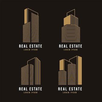 Zestaw logo nowoczesnej nieruchomości