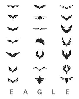 Zestaw logo orzeł