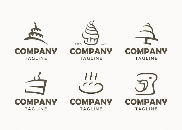 Zestaw logo piekarni, etykiet, odznak i elementów projektu