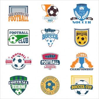 Zestaw logo piłki nożnej.