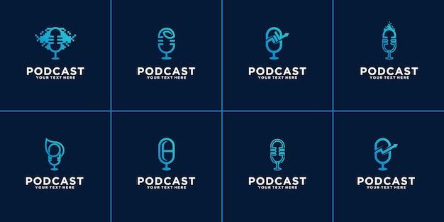 Zestaw logo podcastu.