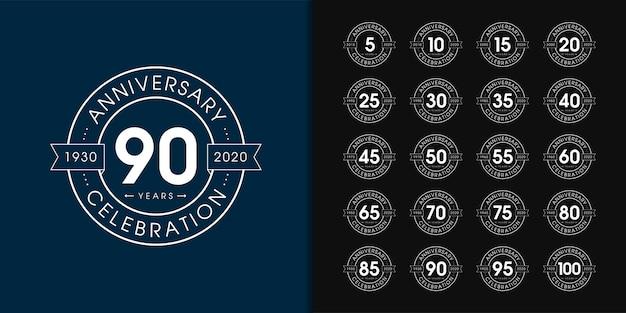 Zestaw logo rocznicy premium.