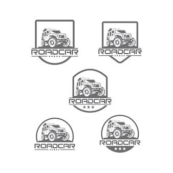Zestaw logo samochodu drogowego