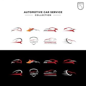 Zestaw logo serwisu samochodowego