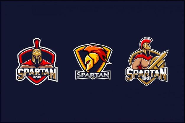 Zestaw logo spartan