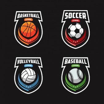 Zestaw logo sportowego