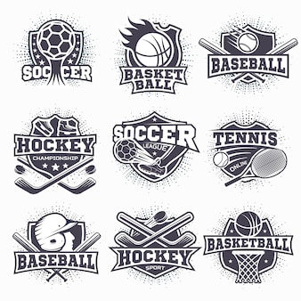 Zestaw logo sportowych