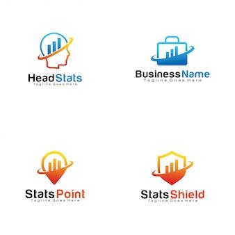 Zestaw logo statystyk