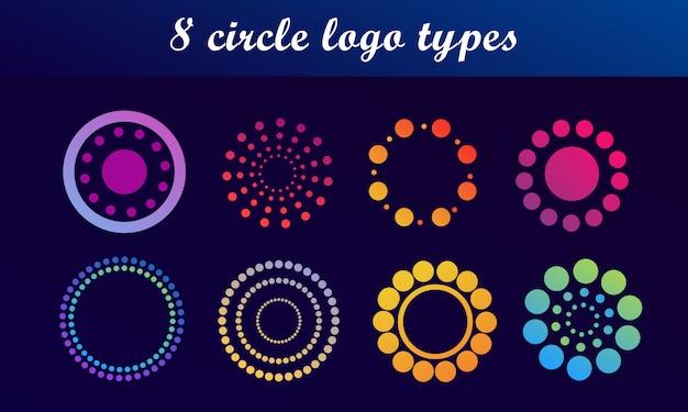 Zestaw logo streszczenie koło