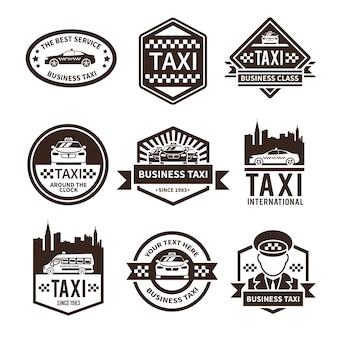 Zestaw logo taksówki