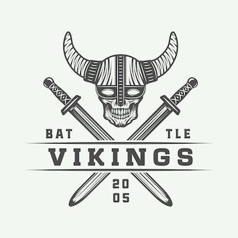 Zestaw logo wikingów