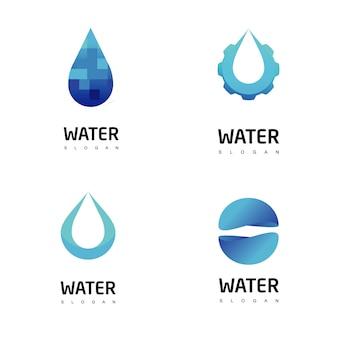 Zestaw logo wody