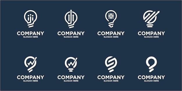 Zestaw logo żarówki