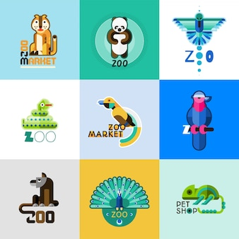 Zestaw logo zoo