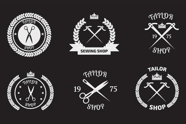 Zestaw logotypów krawieckich