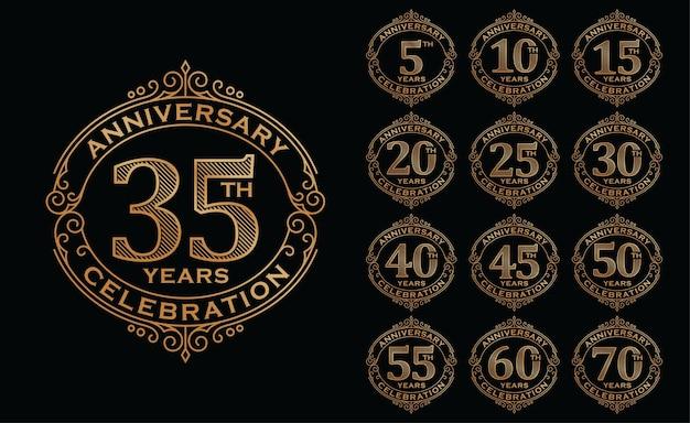 Zestaw logotypów obchodów złotej rocznicy
