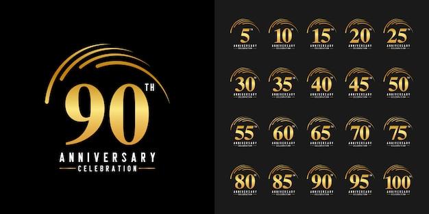 Zestaw logotypów obchodów złotej rocznicy.