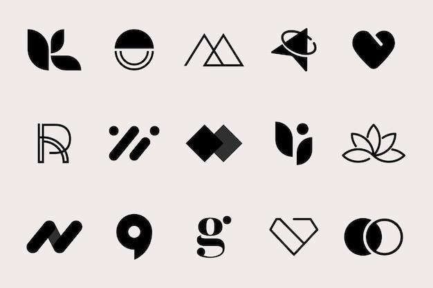Zestaw logotypów