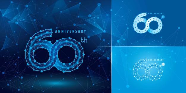 Zestaw logotypu rocznicowego