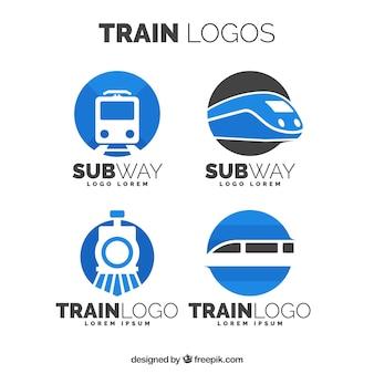 Zestaw logów pociągowych