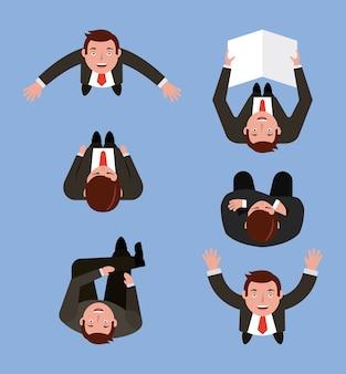 Zestaw ludzi biznesu w ilustracji wektorowych różnych stanowią