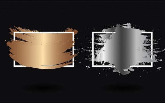 Zestaw luksusowej farby z kwadratową ramką