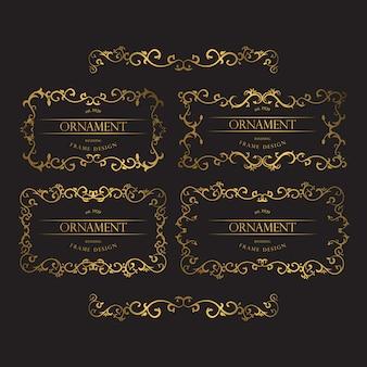 Zestaw luksusowej złotej ramki