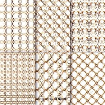 Zestaw luksusowy wzór geometryczny