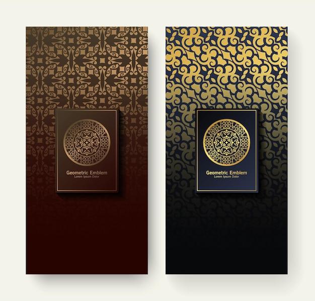Zestaw luksusowych etykiet retro z logo wektor kaligrafii. kolekcja antycznych monogramów.