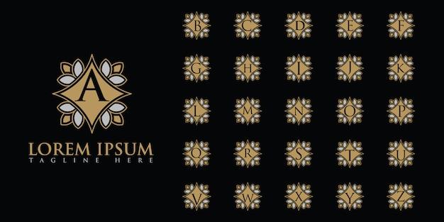Zestaw luksusowych liter logo