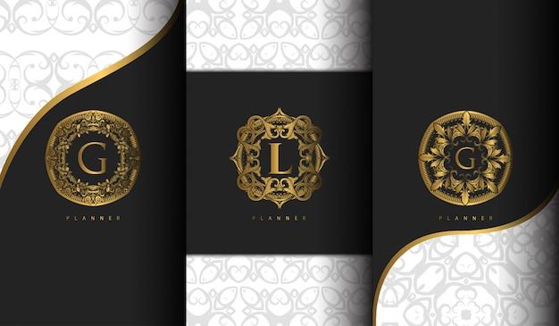Zestaw luksusowych szablonów