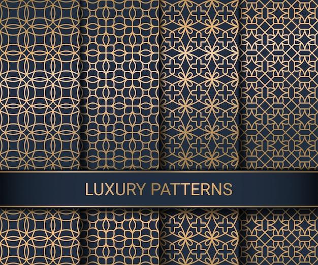 Zestaw luksusowych wzorów bez szwu