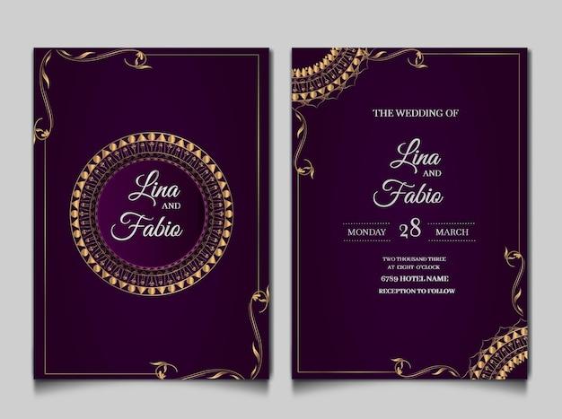 Zestaw luksusowych zaproszenia ślubne