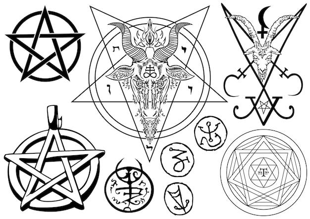 Zestaw magicznych symboli