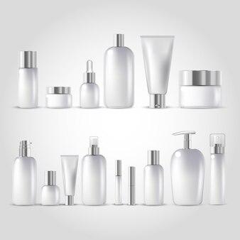 Zestaw makiet kosmetycznych butelki