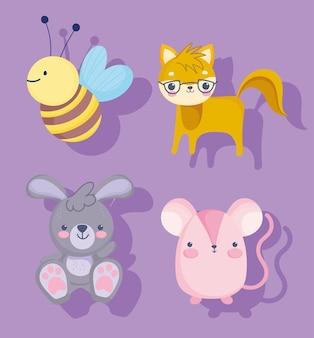 Zestaw małych zwierząt