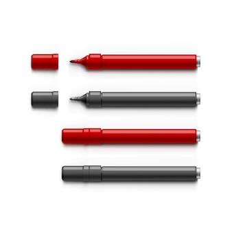 Zestaw markerów, zakreślaczy, pisaków
