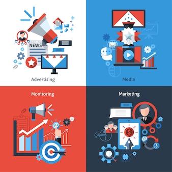 Zestaw marketingowy reklamy