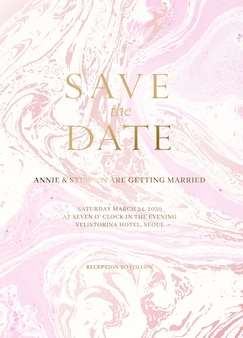 Zestaw marmuru zaproszenia ślubne.