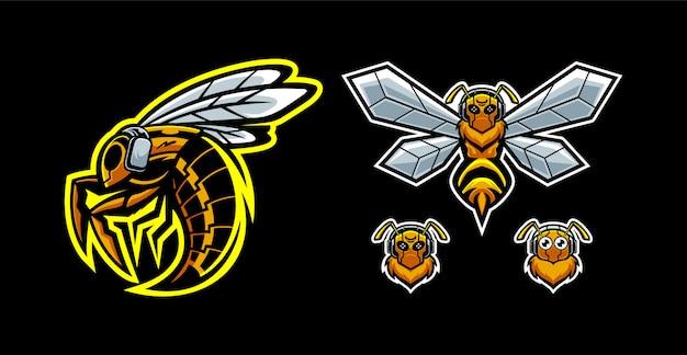 Zestaw maskotek pszczół