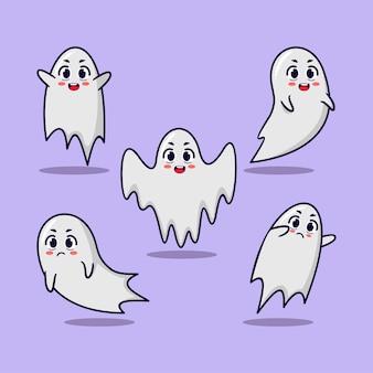 Zestaw maskotek z cute cartoon halloween ghost collection