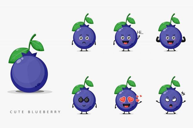 Zestaw maskotka ładny jagoda