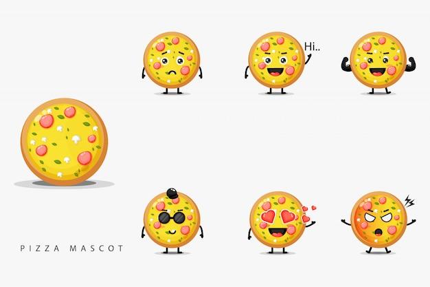 Zestaw maskotka słodka pizza