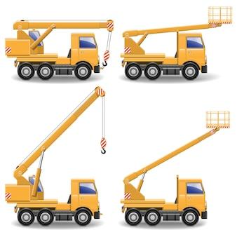 Zestaw maszyn budowlanych vector 1