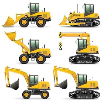 Zestaw maszyn budowlanych vector 3