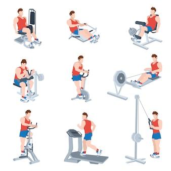 Zestaw maszyn do ćwiczeń