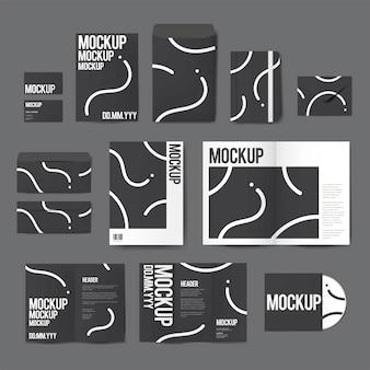 Zestaw materiałów drukarskich wzorów makieta wektor