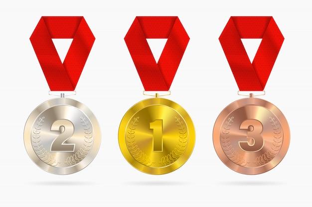 Zestaw medali sportowych