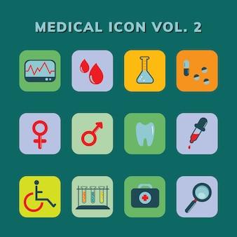 Zestaw medyczny ikona wektor