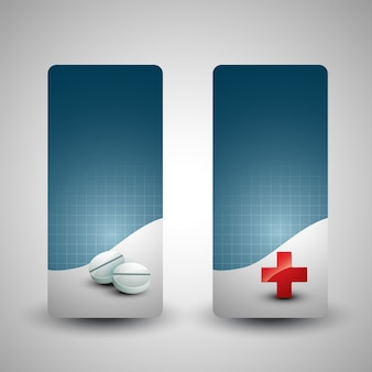 Zestaw medyczny tle dwóch